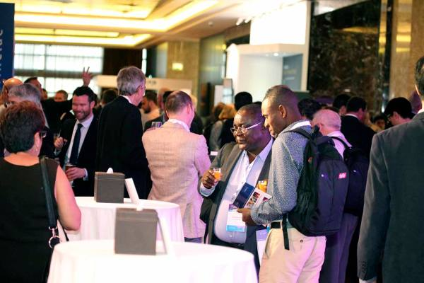 A crowd shot of a reception at the SubOptic 2016 submarine telecoms conference.