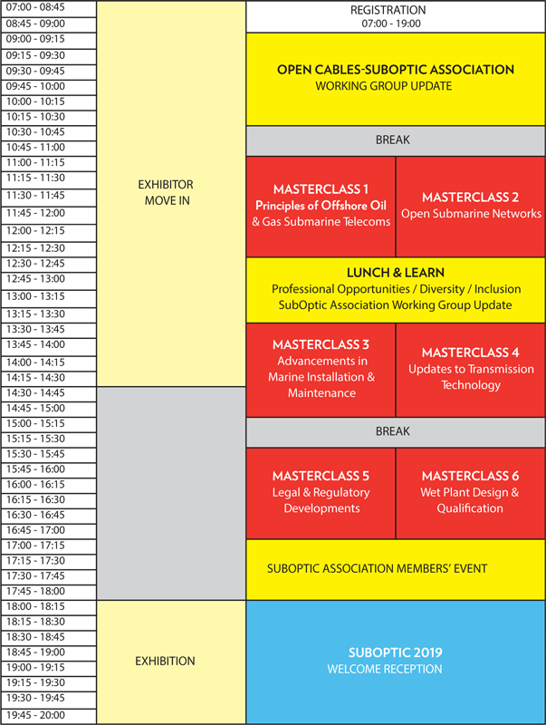 Schedule At-A-Glance – Suboptic 2019