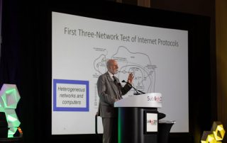 Day four of SubOptic 2019 featured a keynote address from Vint Cerf of Google - widely regarded as one of the father's of the internet.